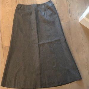 Talbots skirt size 10 grey wool.